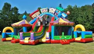 23′ Circus City Slide Triple Lane Slide